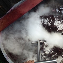Temperature control with dry ice